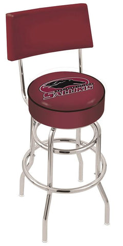 Southern Illinois Salukis Retro Bar Stool with Back 25""