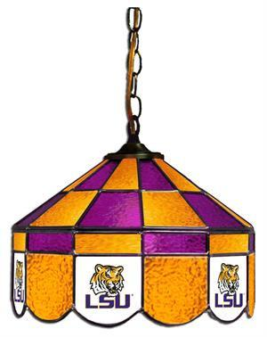 "LSU Tigers 14"" Swag Hanging Lamp"