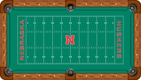 Nebraska Cornhuskers Wool Pool Table Felt - Gridiron