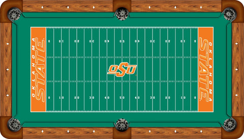 Oklahoma State Wool Pool Table Felt - Gridiron