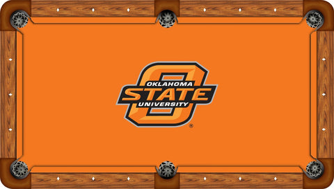 Oklahoma State Wool Pool Table Felt - State Logo on Orange