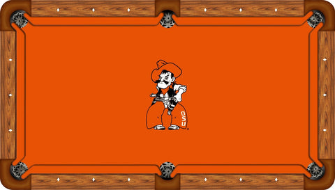 Oklahoma State Wool Pool Table Felt - Pete on Orange