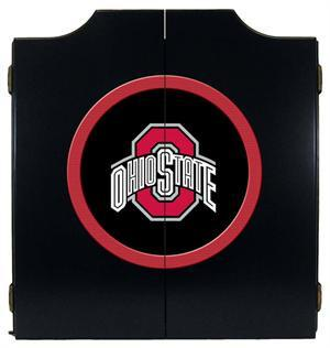 Ohio State Buckeyes Dartboard Cabinet in Black Finish