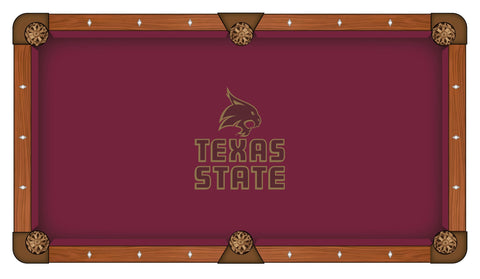 Texas State Bobcats Pool Table Cloth