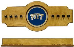 Pitt Panthers Pool Cue Rack in Oak Finish