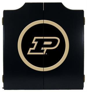 Purdue Boilermakers Dartboard Cabinet in Black Finish