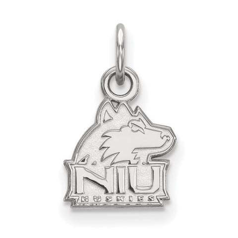 Northern Illinois Huskies XS Charm 10k White Gold