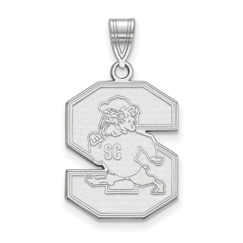 South Carolina State Bulldogs Large Pendant Sterling Silver