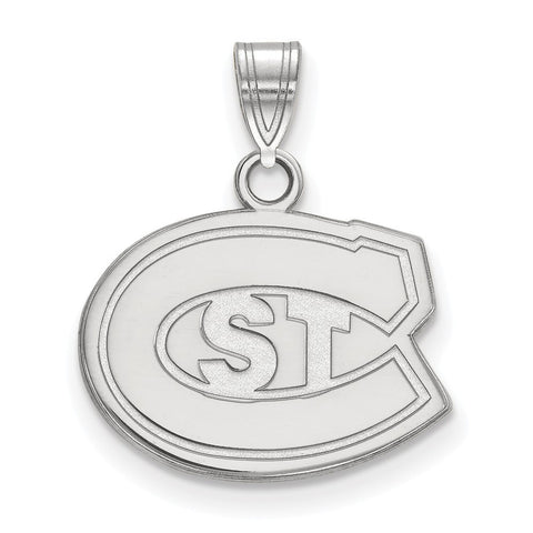 St. Cloud State Huskies Small Pendant 10k White Gold