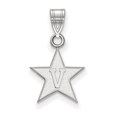 Vanderbilt Commodores Small Pendant 10k White Gold