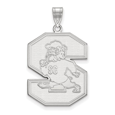 South Carolina State Bulldogs XL Pendant 10k White Gold