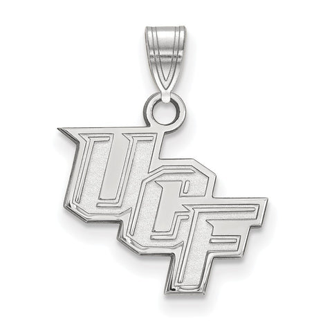 UCF Knights Small Pendant 10k White Gold