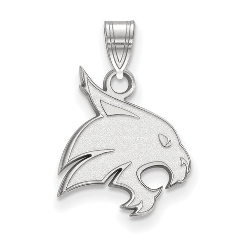 Texas State Bobcats Medium Pendant Sterling Silver