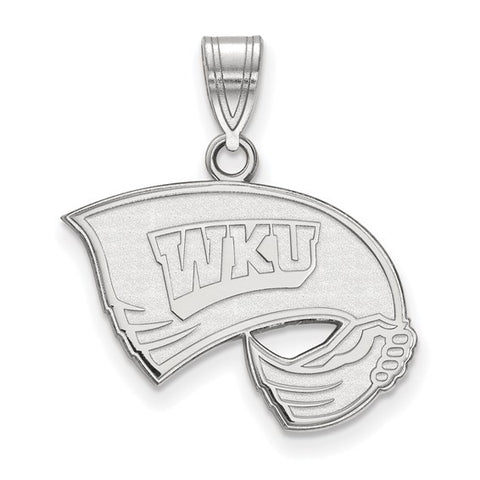 Western Kentucky Hilltoppers Medium Pendant 10k White Gold