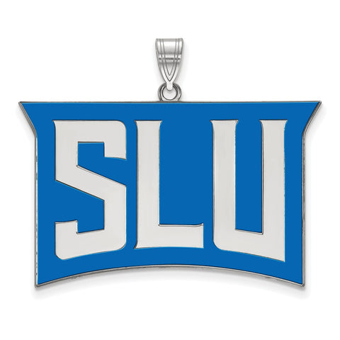 St. Louis Billikens XL Enamel Pendant Sterling Silver