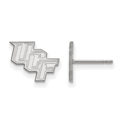 UCF Knights XS Post Earring 10k White Gold