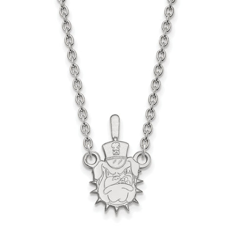 The Citadel Large Pendant Necklace 10k White Gold