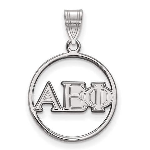 Alpha Epsilon Phi Small Circle Pendant