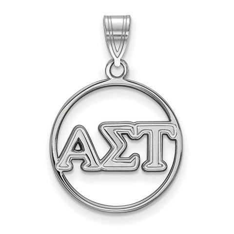 Alpha Sigma Tau Small Circle Pendant