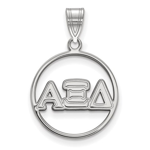 Alpha Xi Delta Small Circle Pendant