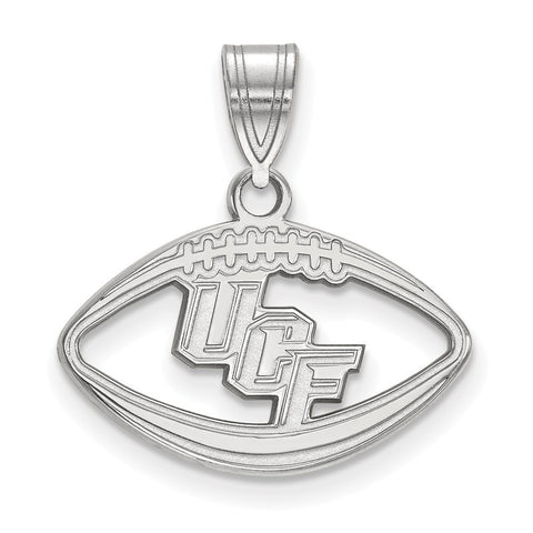UCF Knights Pendant in Football Sterling Silver