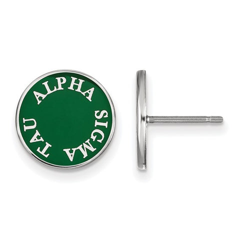 Alpha Sigma Tau Enameled Post Earrings