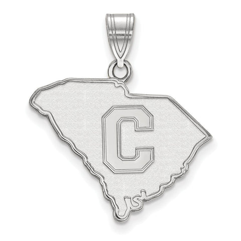 The Citadel Large Pendant 14k White Gold