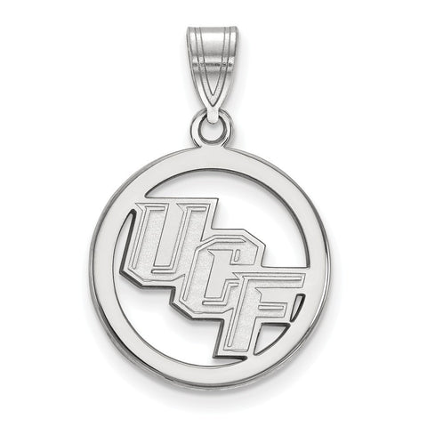 UCF Knights Small Pendant in Circle Sterling Silver