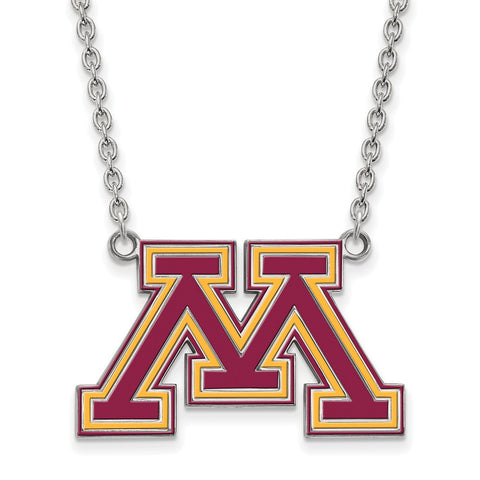 Minnesota Golden Gophers Large Enamel Pendant w/ Necklace
