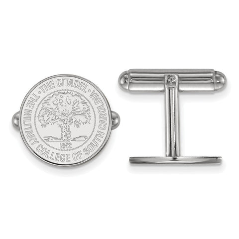 The Citadel Crest Cufflinks Sterling Silver