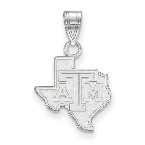 Texas A&M Aggies Small Pendant Sterling Silver