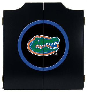Florida Gators Dartboard Cabinet in Black Finish