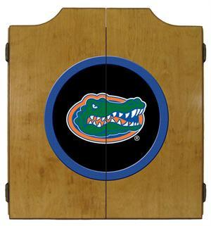 Florida Gators Dartboard Cabinet in Oak Finish