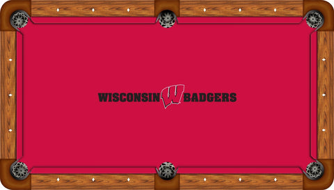 Wisconsin Badgers Wool Pool Table Felt - Red