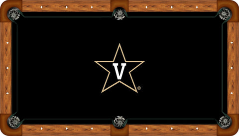 Vanderbilt Wool Pool Table Felt - Star V on Black