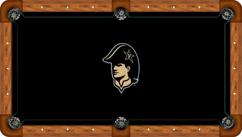 Vanderbilt Wool Pool Table Felt - Mascot Head on Black
