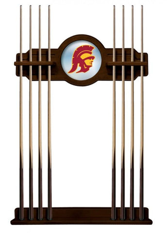 USC Trojans Cue Rack in English Tudor