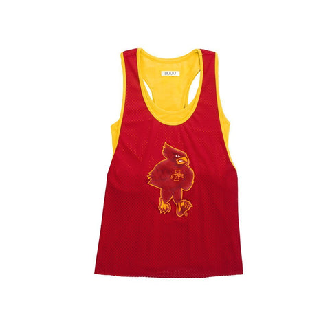 Iowa State University Mesh Tank with Attached Sporty Bralette