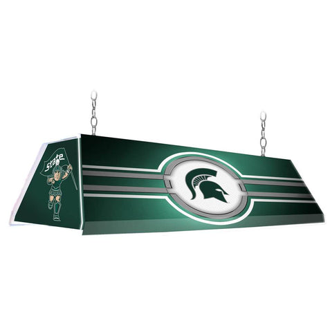 "Michigan State Spartans 46"" Edge Glow Pool Table Light-Green"