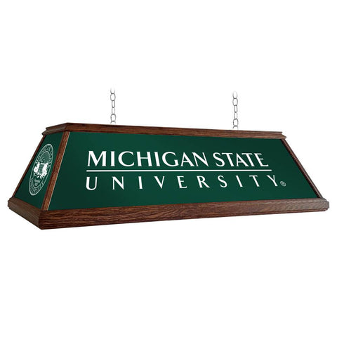 "Michigan State Spartans 49"" Premium Wood Pool Table Light"