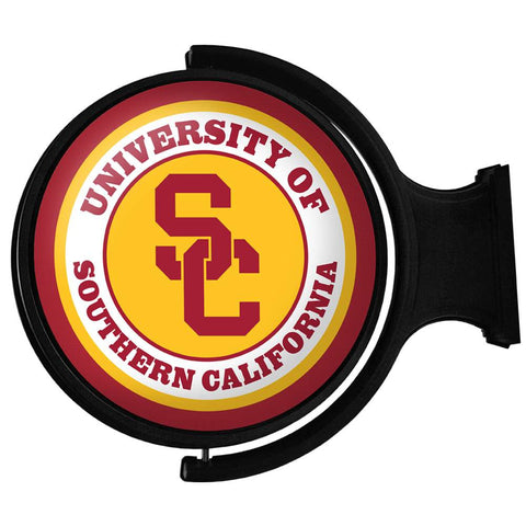 USC Trojans Rotating LED Team Spirit Round Wall Sign-Primary Logo