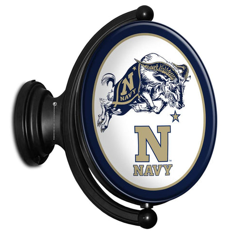 Navy Midshipmen Rotating LED Team Spirit Oval Wall Sign-Primary Logo