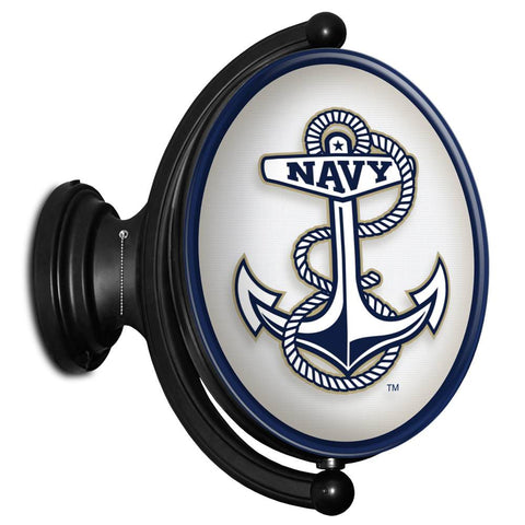 Navy Midshipmen Rotating LED Team Spirit Oval Wall Sign-Anchor