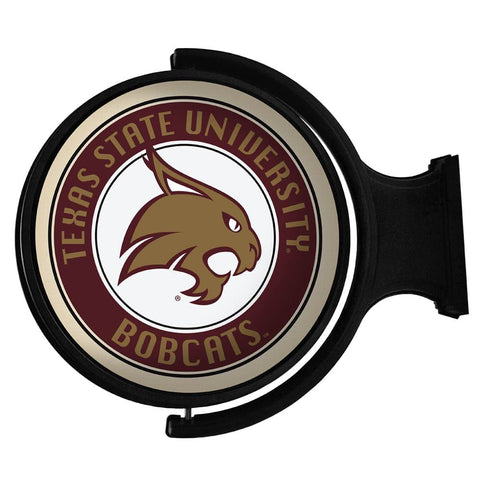 Texas State Bobcats Rotating LED Team Spirit Round Wall Sign-Primary Logo