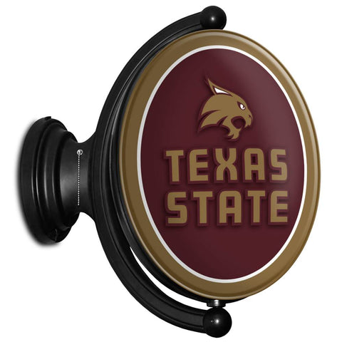 Texas State Bobcats Rotating LED Team Spirit Oval Wall Sign-Primary Logo