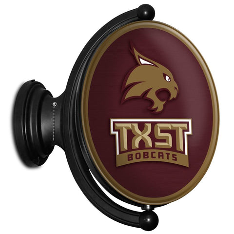 Texas State Bobcats Rotating LED Team Spirit Oval Wall Sign-TXST