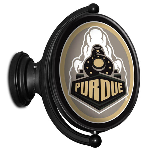 Purdue Boilermakers Rotating LED Team Spirit Oval Wall Sign-Seoncary Athletic Mark