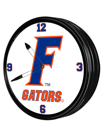 "Florida Gators 19"" LED Team Spirit Clock-Secondary Logo"