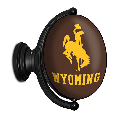 Wyoming Cowboys Rotating LED Team Spirit Oval Wall Sign-Oval-Bucking Horse