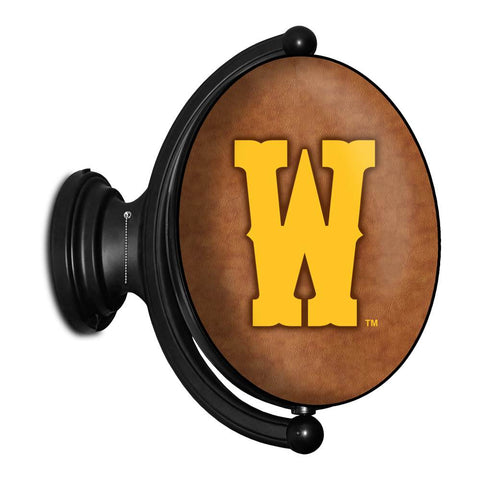Wyoming Cowboys Rotating LED Team Spirit Oval Wall Sign-Oval-Athletic W